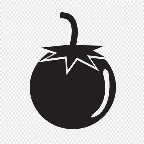 tomaat pictogram symbool teken