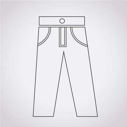 sinal de símbolo de ícone de calças