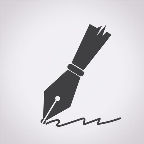 pen icon  symbol sign vector