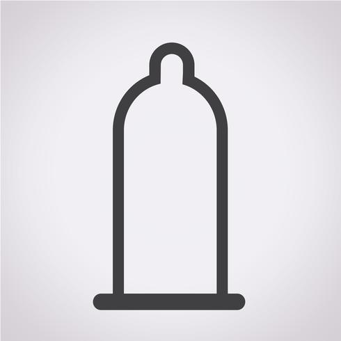 icono de condón símbolo de signo vector
