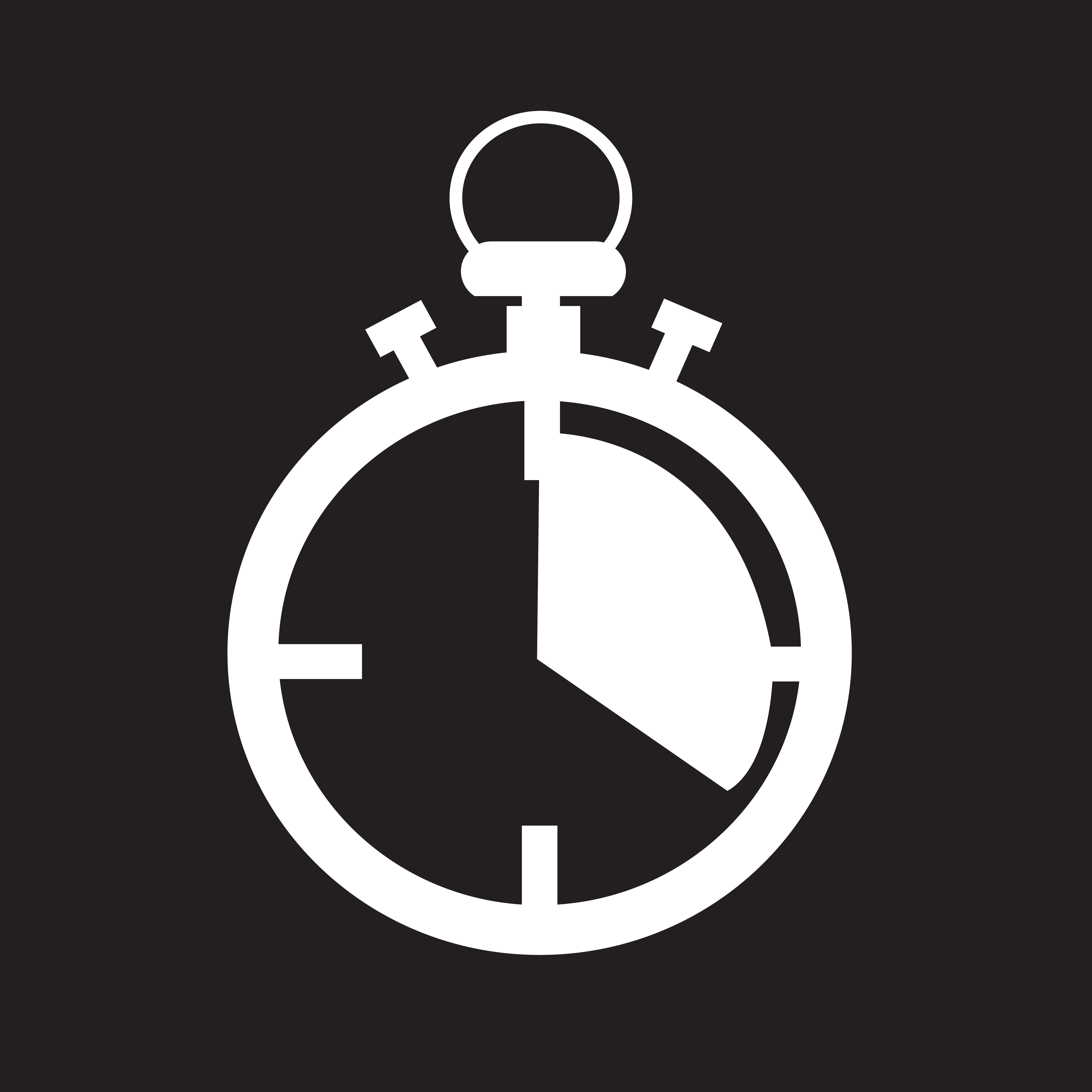 signe de symbole ic u00f4ne chronom u00e8tre