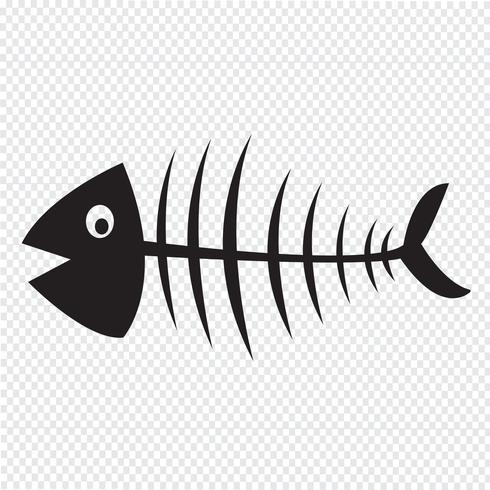 Fish skeleton  symbol sign