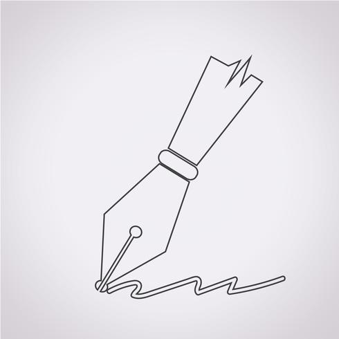 caneta ícone símbolo sinal
