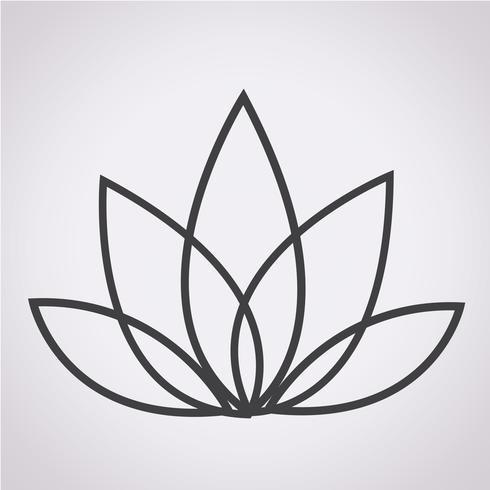 lotus ikon symbol tecken