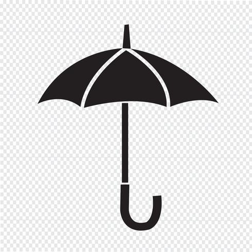 Signo de símbolo de icono de paraguas