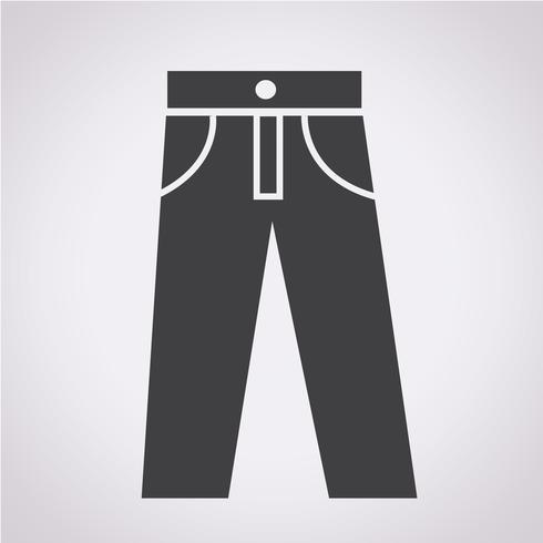 sinal de símbolo de ícone de calças vetor
