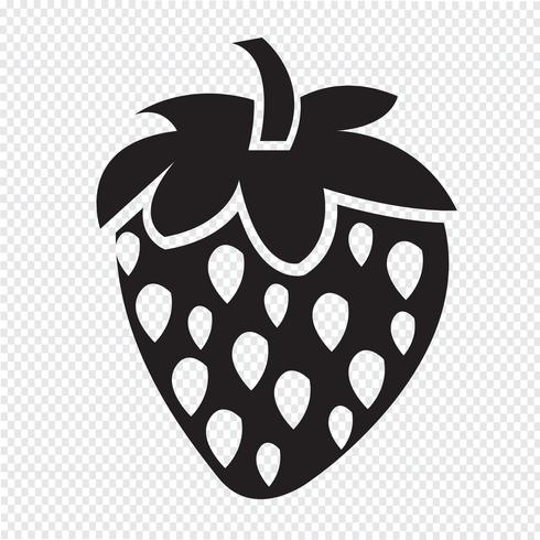aardbei pictogram symbool teken