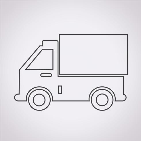 icono de camión símbolo de signo vector