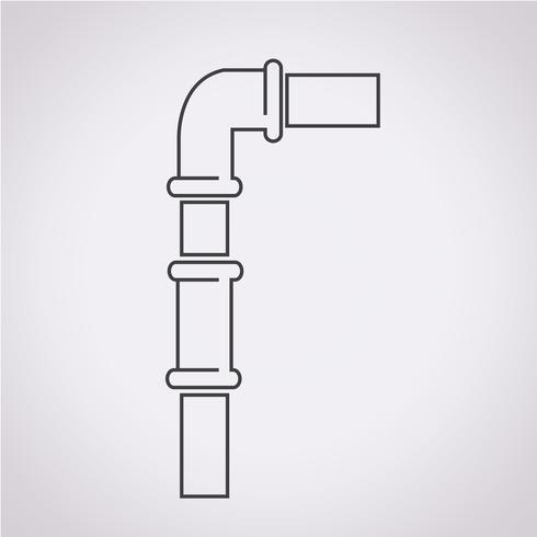 icona simbolo di tubi segno