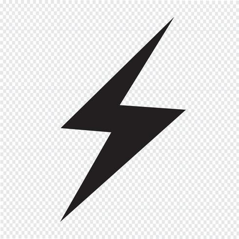 symbole de foudre icône symbole