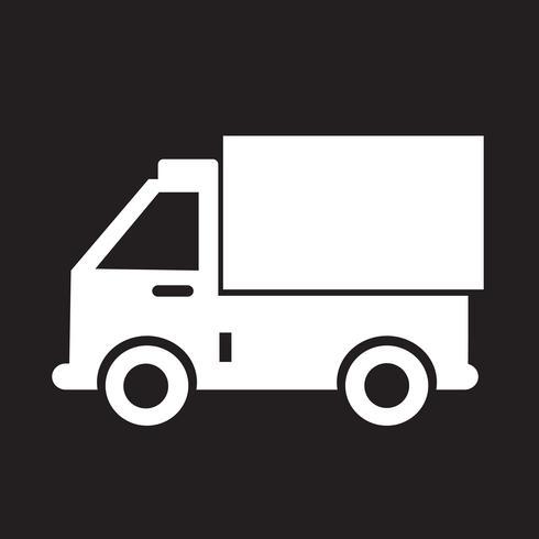 sinal de símbolo de ícone de caminhão