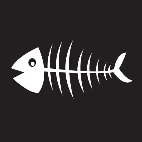 Scheletro di pesce simbolo segno