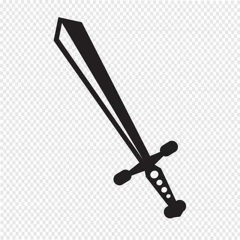sword icon  symbol sign vector