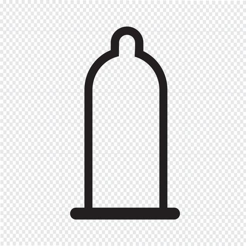 símbolo de ícone de preservativo