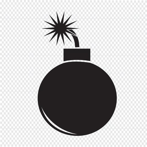 Bomb Icon  symbol sign vector
