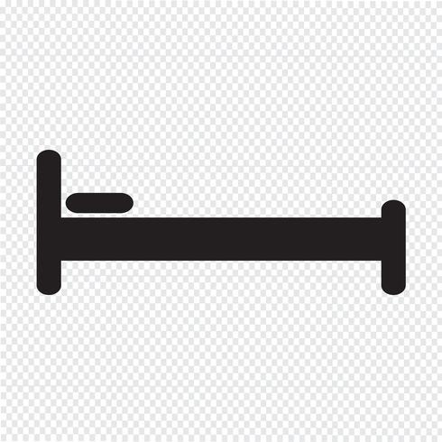 Icono de la cama símbolo de signo