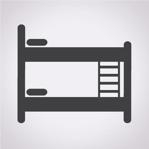 Bed icon  symbol sign
