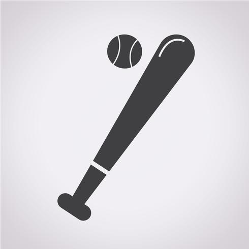 Símbolo de icono de béisbol signo vector