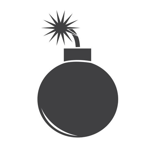 Icono de bomba símbolo de signo vector