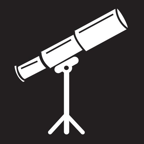 Symbole de télescope icône symbole