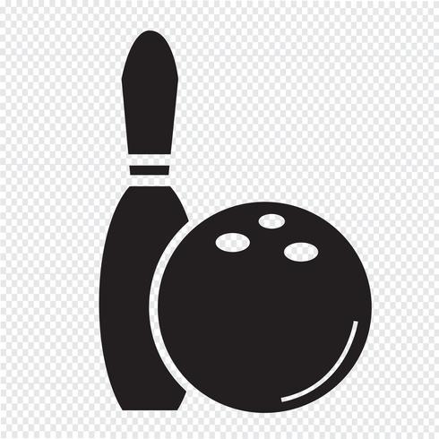 bowling pictogram symbool teken
