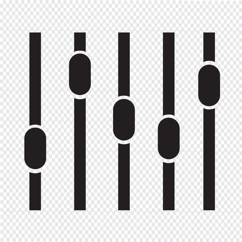 equalizer pictogram symbool teken