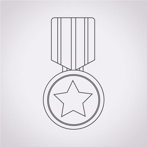 medalj ikon symbol tecken