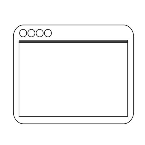 Segno simbolo icona browser