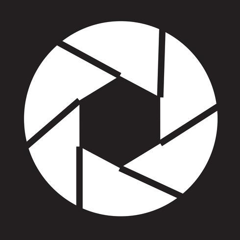 Aperture icon symbol sign vector
