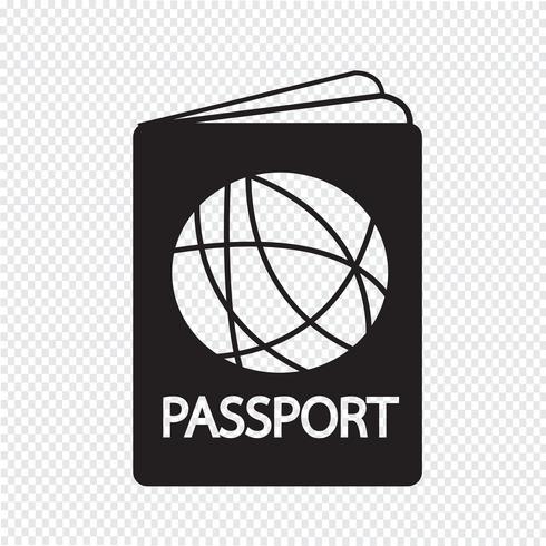 Paspoort pictogram symbool teken