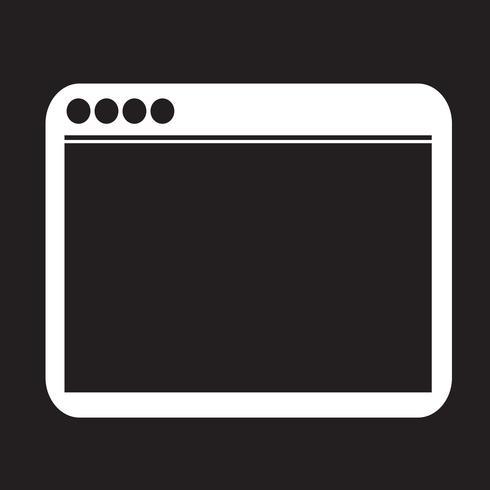 Sinal de símbolo do ícone do navegador