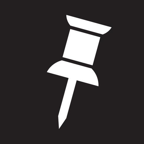 Pushpin ikon symbol tecken