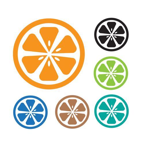 Sinal de símbolo ícone laranja