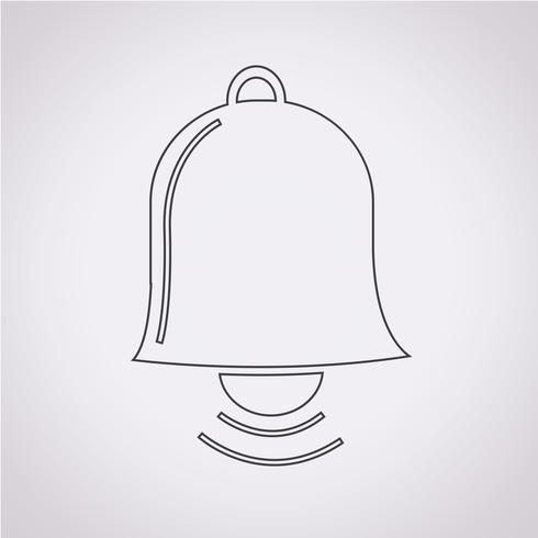 signe de symbole icône cloche