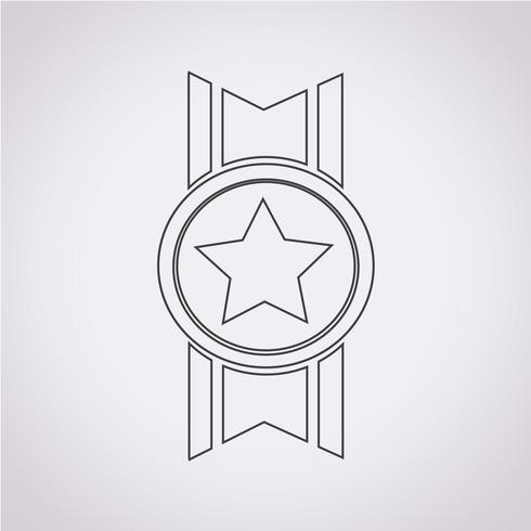 medaglia icona simbolo segno