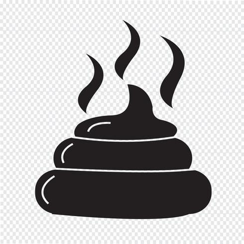Uitwerpselen pictogram symbool teken