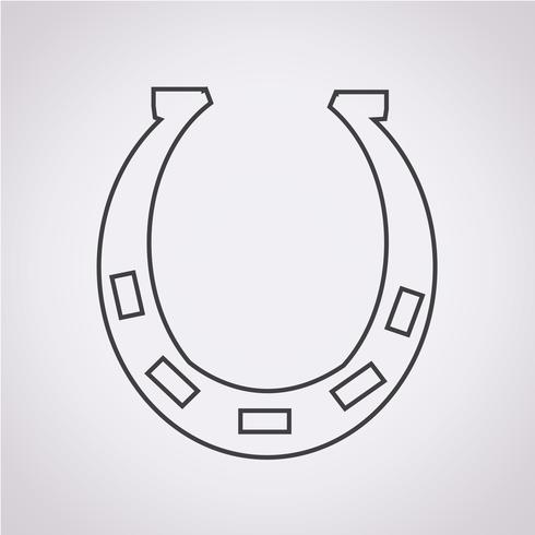 Hoefijzer pictogram symbool teken
