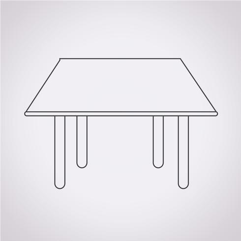 Table Icon  symbol sign