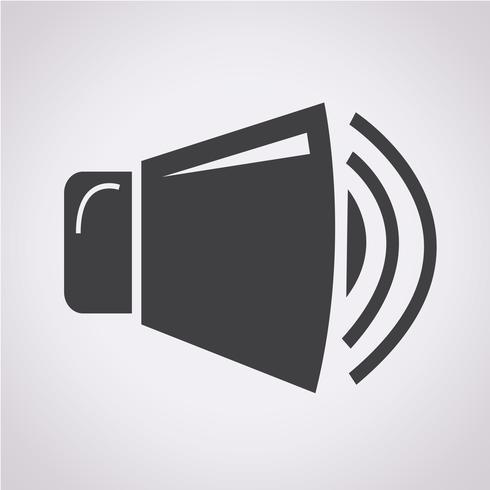 speaker icon  symbol sign vector