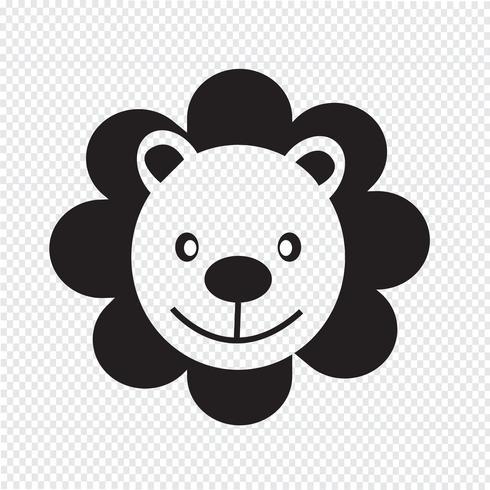Lion Icon symbool teken