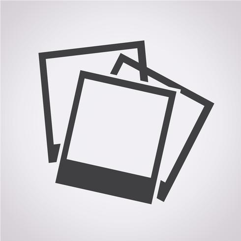 Foton ikon symbol tecken