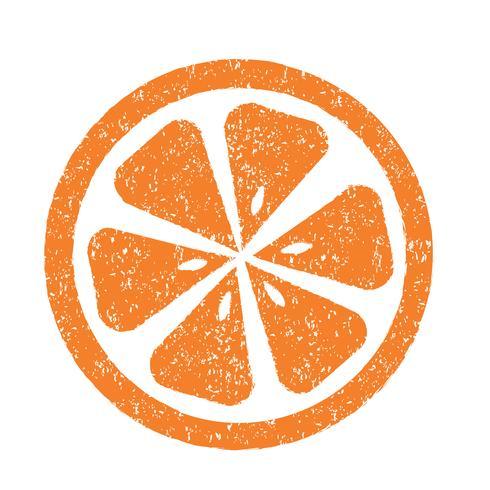 Icona arancione simbolo segno