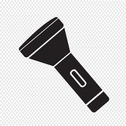 ficklampa ikon symbol tecken vektor