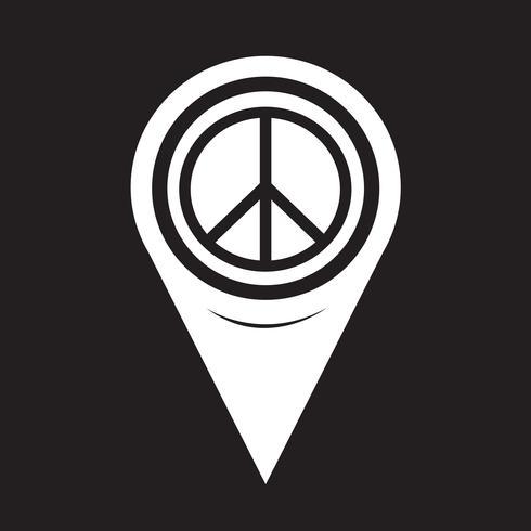 Carte Pointer Peace Sign Icône