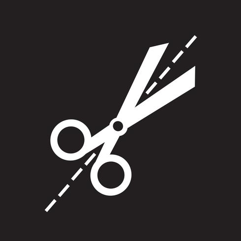 Sinal de símbolo de ícone de tesoura