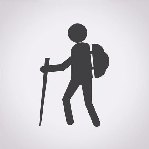 wandelen pictogram symbool teken