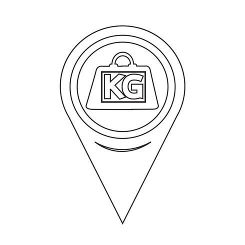 Mapa Puntero Peso Kilogramo Icono