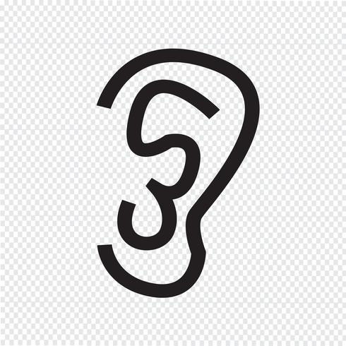 icono de la oreja símbolo de signo