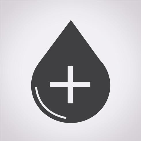 Segno di simbolo dell'icona di sangue