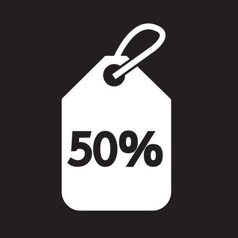 50 sale price tag icon